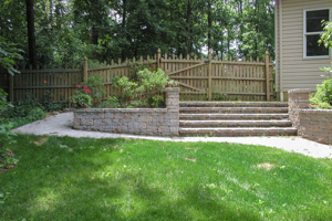 Completed paver backyard steps and walk Center Valley PA