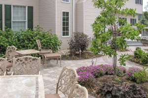 Backyard patio living space in Upper Saucon Township Pennsylvania